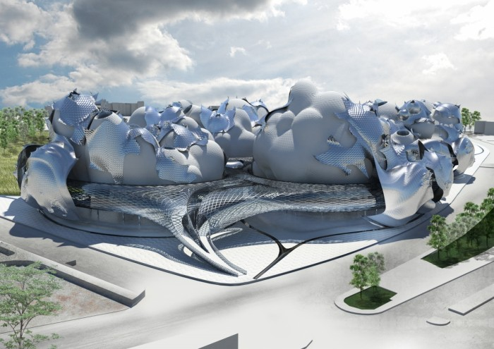 Hernan Diaz Alonso ettepanek Budapesti vabade kunstide muuseumi uuele hoonele. Autoriõigus: Xefirotarch