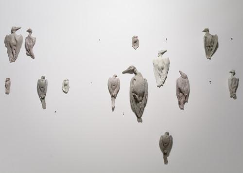 """Edith Karlsoni """"Draama on sinu peas: ära vaata maha"""" (detail) Temnikova ja Kasela Galeriis. Foto: Stanislav Stepashko"""