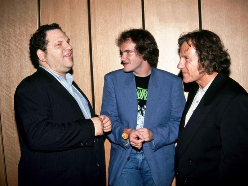 Harvey Weinstein, Quentin Tarantino ja Harvey Keitel. Foto: Kaader filmist