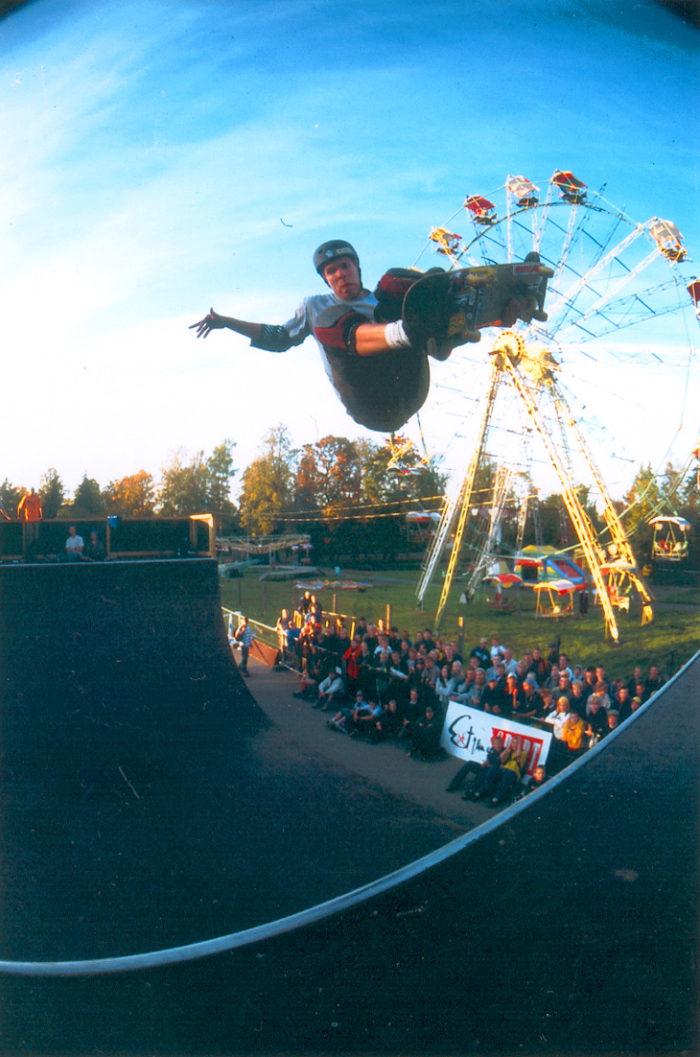 Jussi Korhonen kõige esimesel Simple Sessionil aastal 2000. Foto: Timo Toots