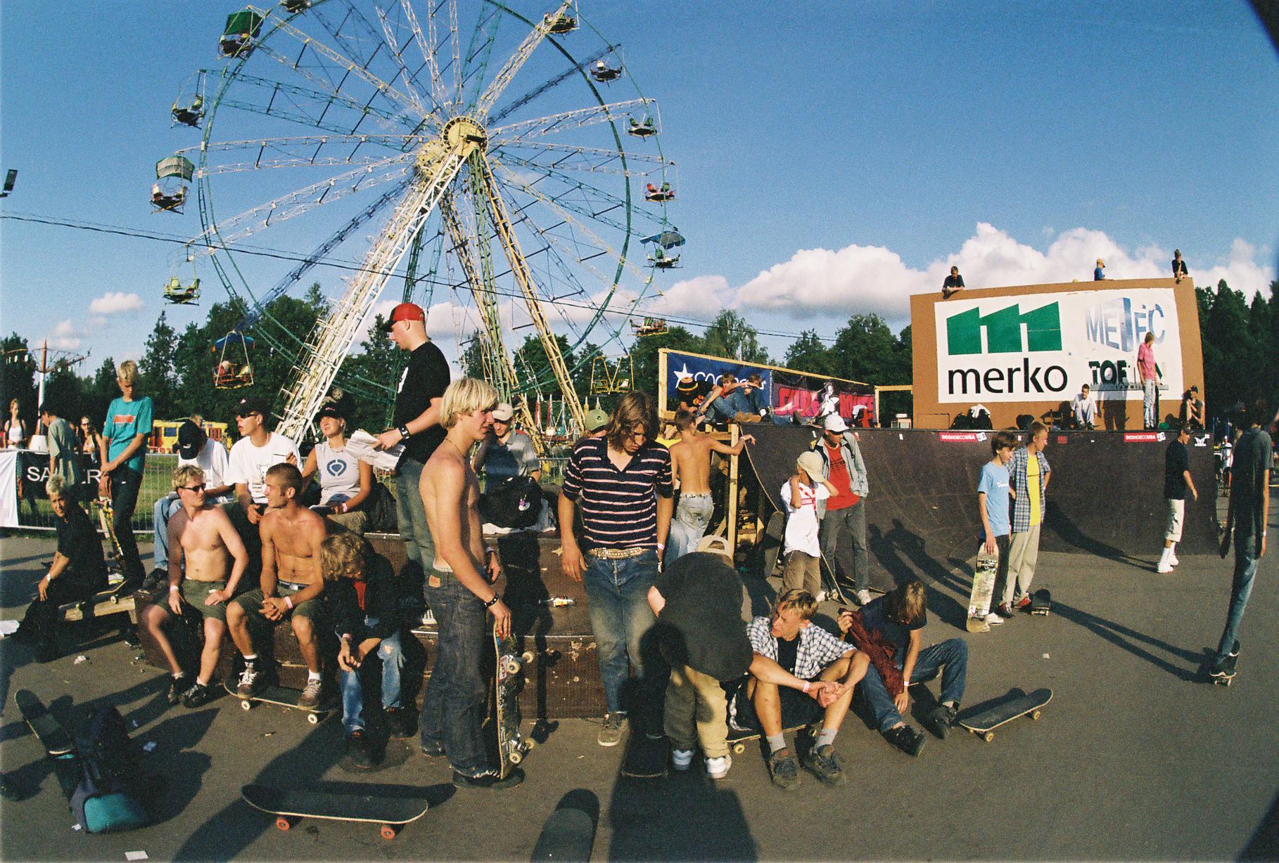 Häng Simple Sessionil aastal 2002 Tähtvere rulapargis. Foto: Timo Toots