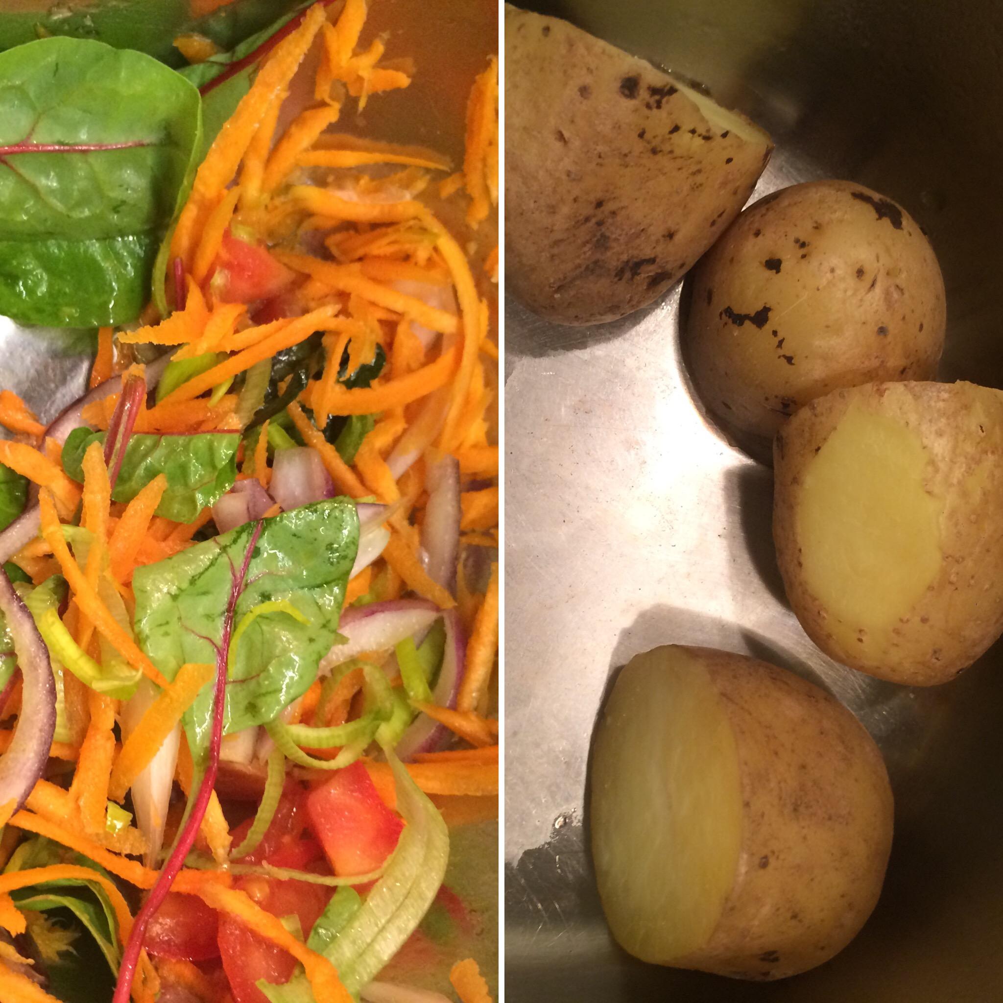 Värske kraam, peaosas kartul.