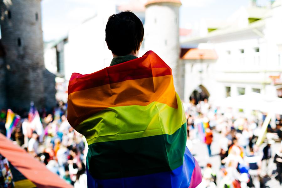 Pride'i rongkäik Tallinna vanalinnas. Foto: Priit Mürk