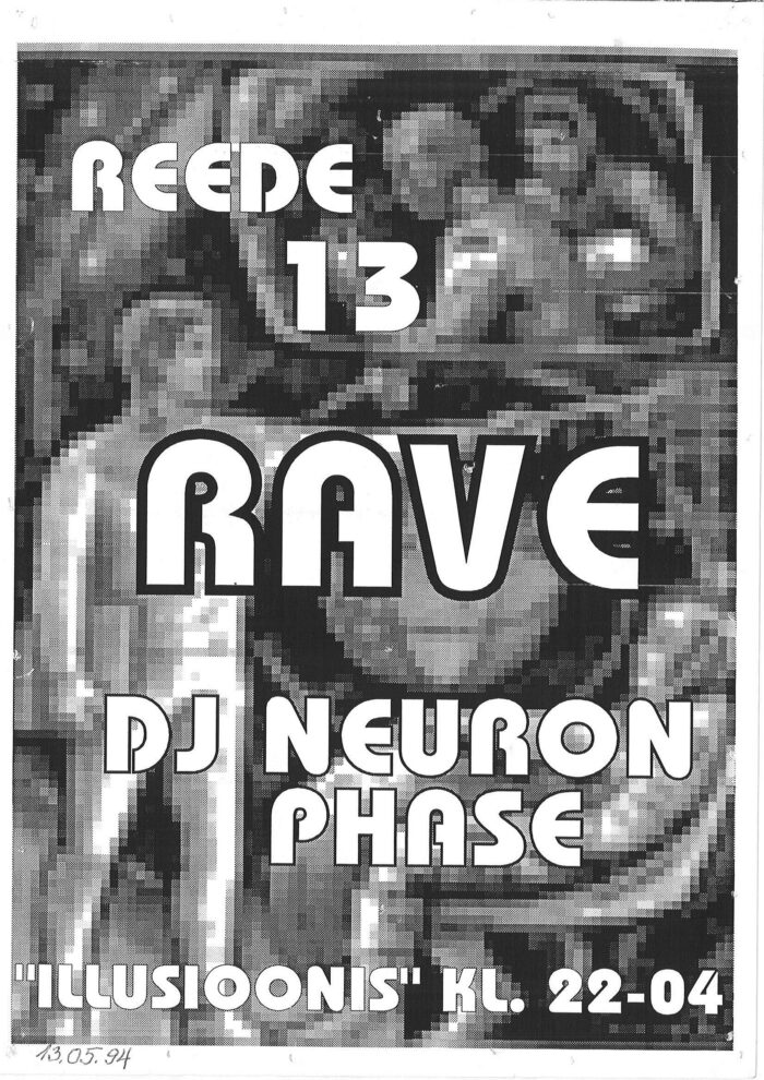 """Peo """"REEDE 13 RAVE"""" flaier"""