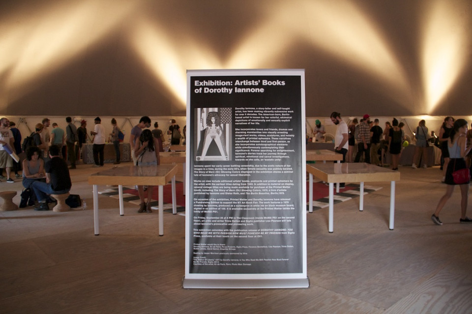 Exhibition for Artists' Books of Dorothy Iannone.  Photo: Sandra Nuut