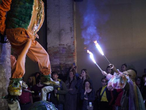 Paviljoni avamine rituaalse perfromance'iga. Foto: Juhan Huimerind