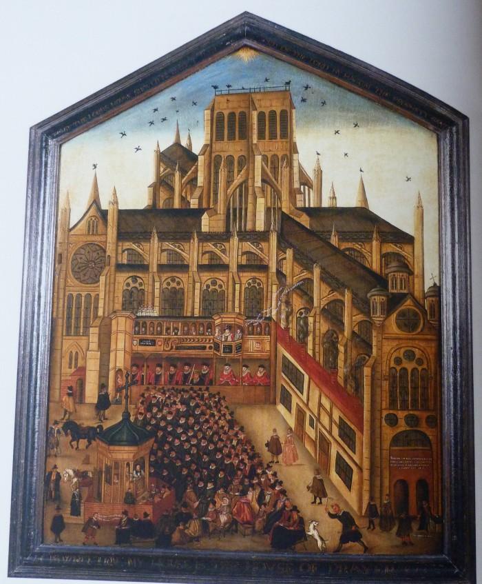 Pilt 6. Püha Pauluse katedraal Londonis, 1614, tundmatu autor. Foto: Wikimedia Commons