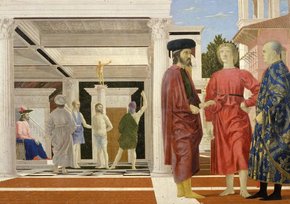 Pilt 7. Kristuse piitsutamine. Piero della Francesca, ca 1455–1470. Foto: Wikimedia Commons