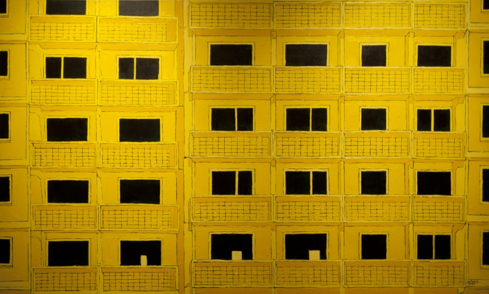 "Andris Vitolinš ""Apartment 2000"". Acrylic, canvas 2011"
