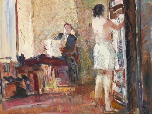 """Ado Vabbe """"Mees ja naine"""", õli, 1940. Eesti Kunstimuuseumi maalikogu"""