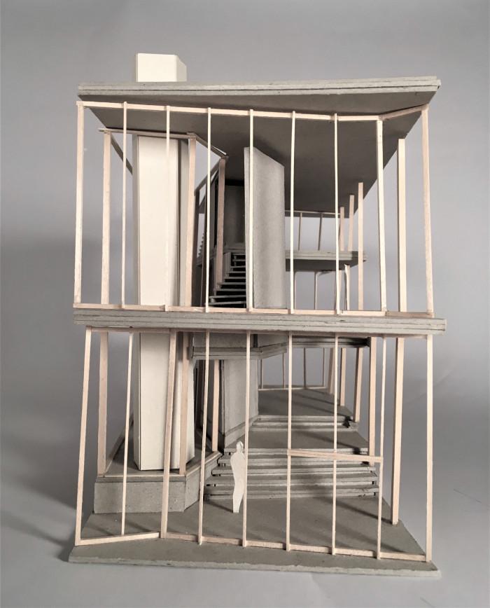 Taani arhitektuuritudengi Anna-Julia Plichta makett Võrgu 8 eramust