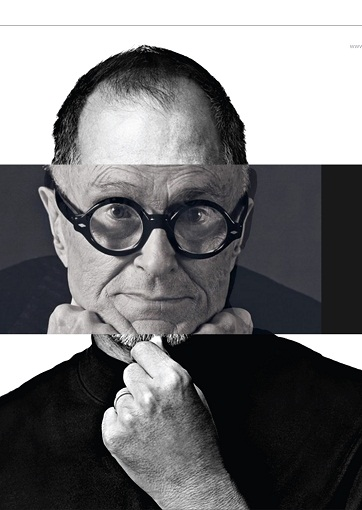 Arhitekt Must kannab Philip Johnsonilt saadud prille ning Steve Jobsist üle jäänud musta pluusi. Foto: Arhitekt Must.