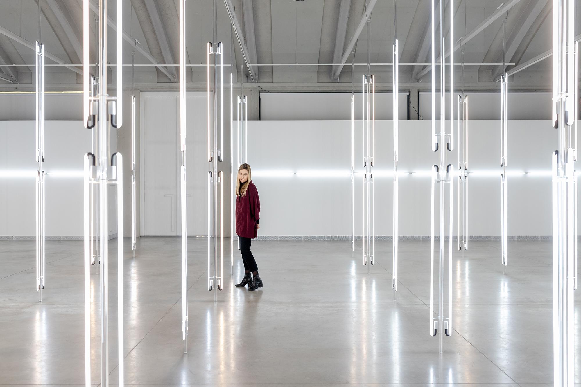 Anne Katrine Senstadi valgusinstallatsioon Kai kunstikeskuses. Foto: Renee Altrov