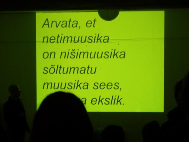 Kaader Artishok Recordsi õhtult (2010). Foto: artishok.blogspot.com