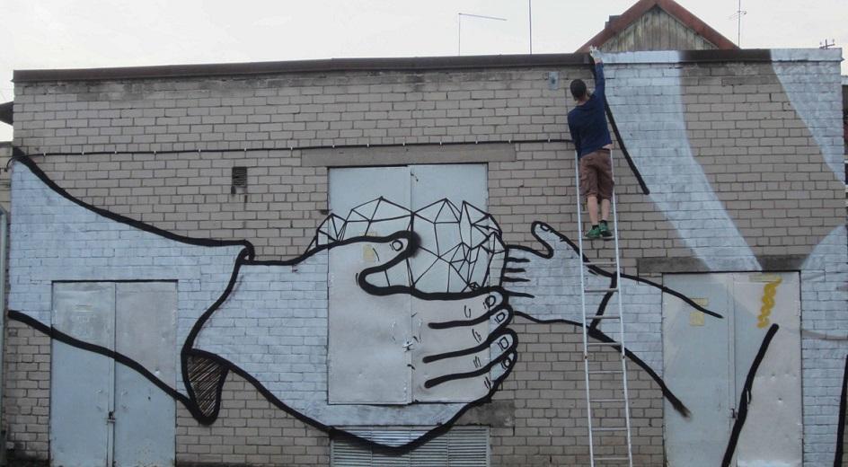 Grafiti Viljandis Tallinna tnaval Foto Uku Sepsivart