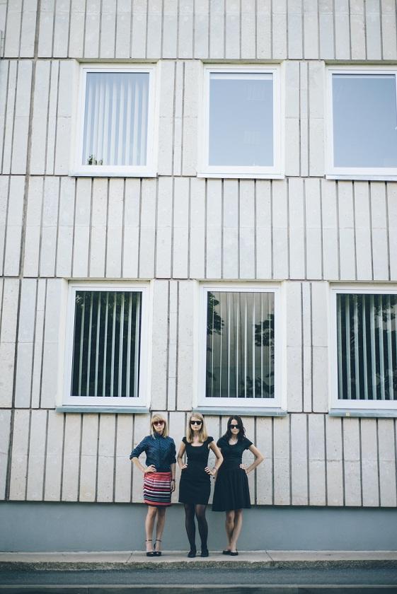 KUKU NUNNU kuraatorikooli kasvandikud Marika Agu, Triin Tulgiste ja Marie Vellevoog. Foto: Patrik Tamm