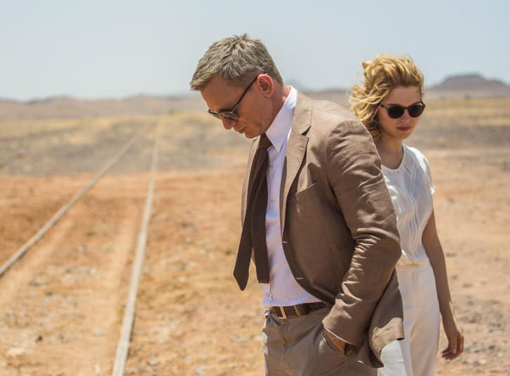 James Bondi rollis üles astuv Daniel Craig ning seekordne Bondi-tüdruku osatäitja Léa Seydoux. Kaader filmist