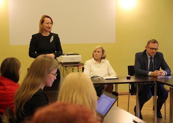 Kolme Balti riigi kultuuriministrid Balti kultuurikomitee istungil. Foto: Kultuuriministeerium.