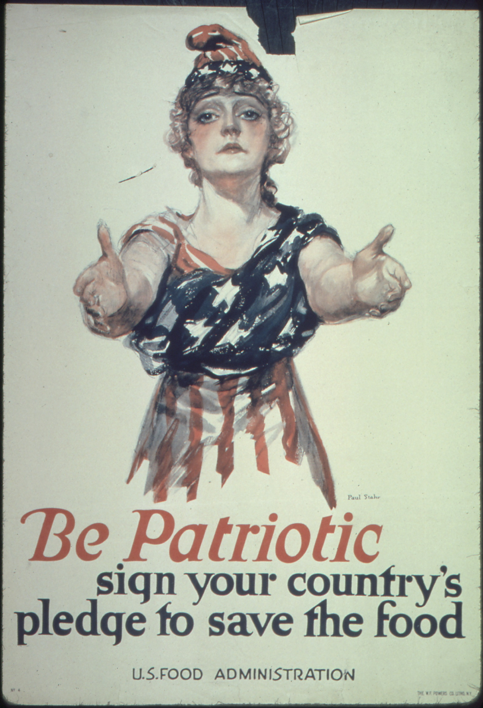 Patriootlik esimese maailmasõja aegne plakat Ameerikas