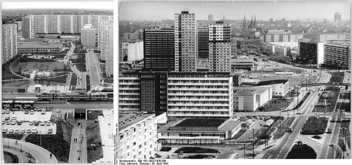 Public housing estates in East Germany. Photo: Wikimedia commons