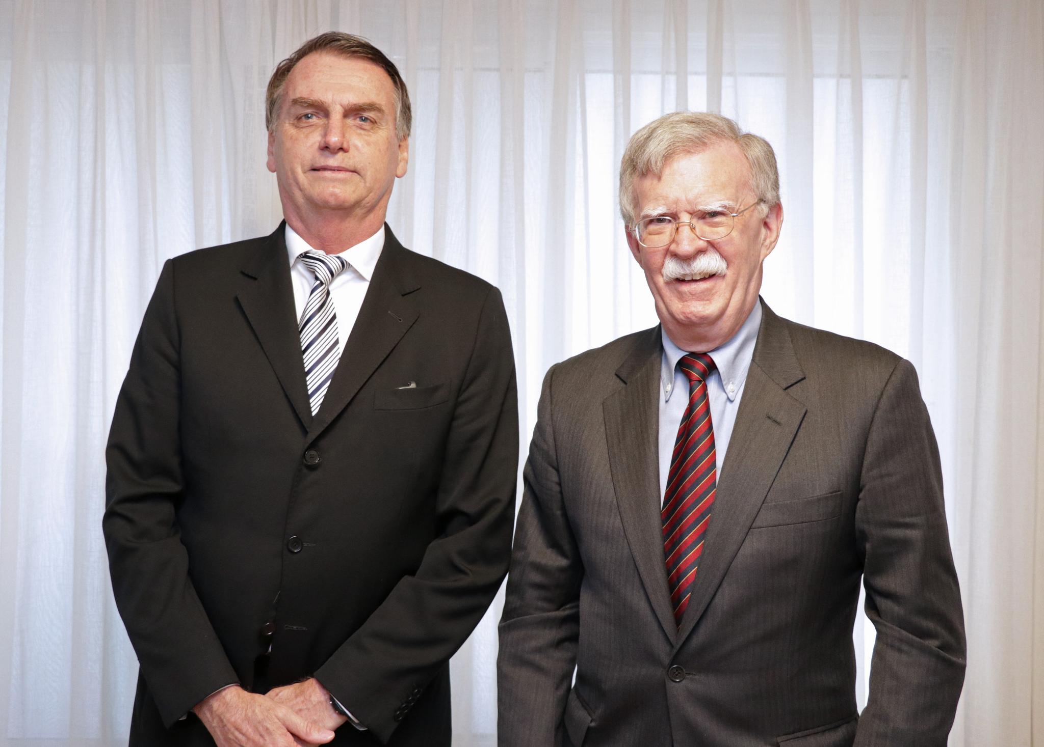 Jair Bolsonaro kohtumas USA riikliku julgeoleku nõuniku John Boltoniga. Foto: USA Konsulaat Rio de Janeiros