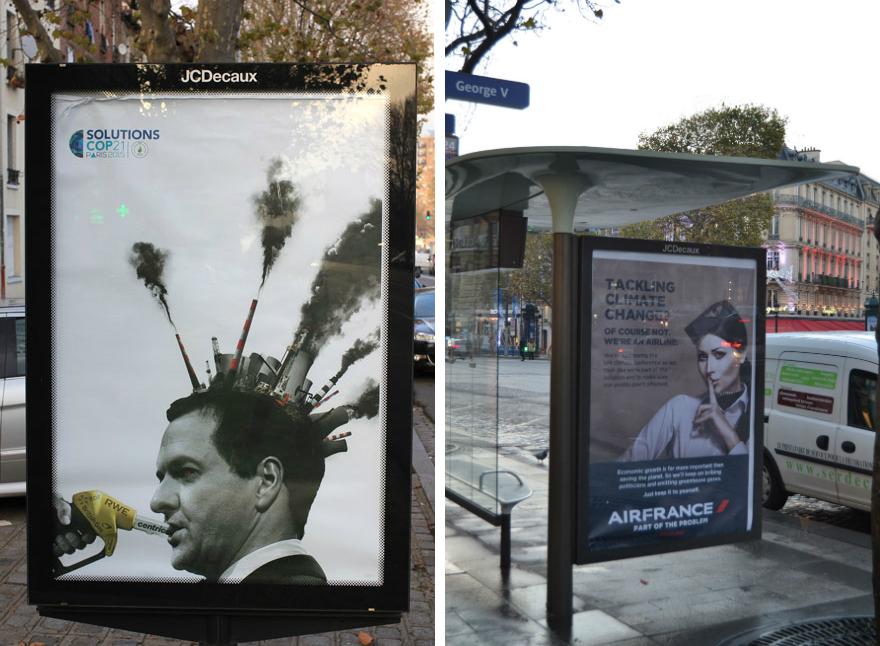 Plakatite autorid: Bill Posters ja Revolt Design. Foto: www.brandalism.org.uk