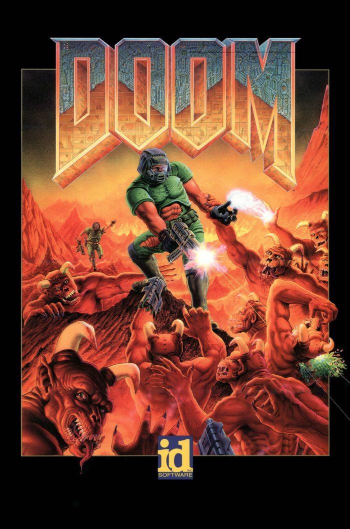 """1993. aasta arvutimängu """"Doom"""" tunnusgraafika"""