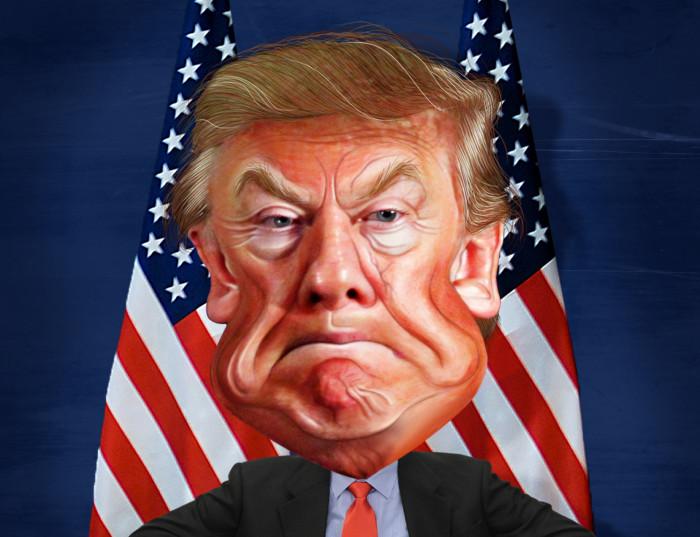 Donald Trump. Karikatuur: DonkeyHotey (CC BY 2.0)