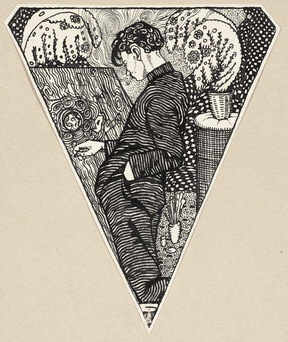 """Eduard Wiiralt """"Kunstnik"""" (1917, tušš), Eesti Kunstimuuseum"""
