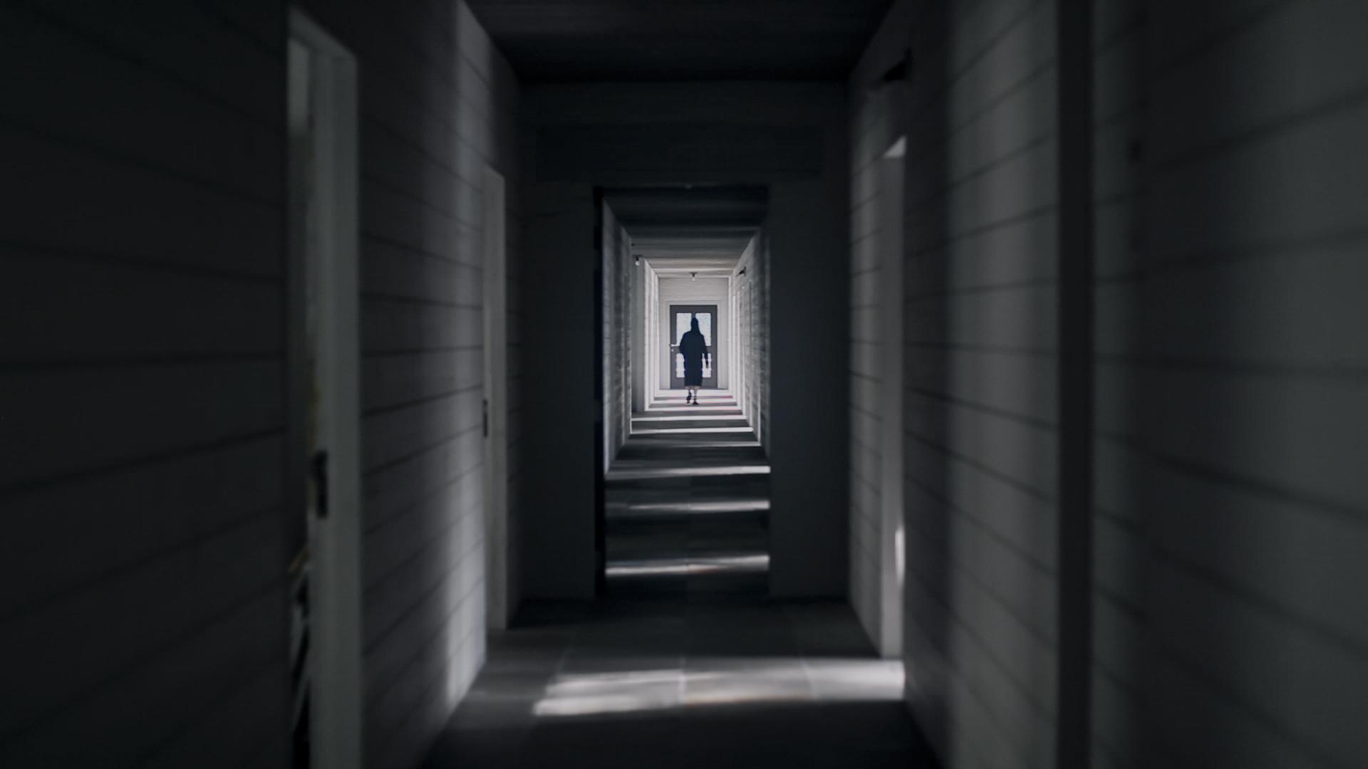 "Ingel Vaikla ""Aine ja tühjuse vahel"" (Between Solid and the Void). Foto: Kaader teosest."