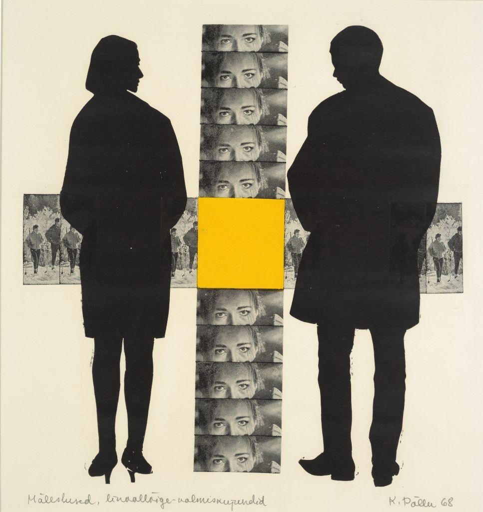 """Kaljo Põllu """"Mälestused"""", segatehnika, 1968, Eesti Kunstimuuseum"""