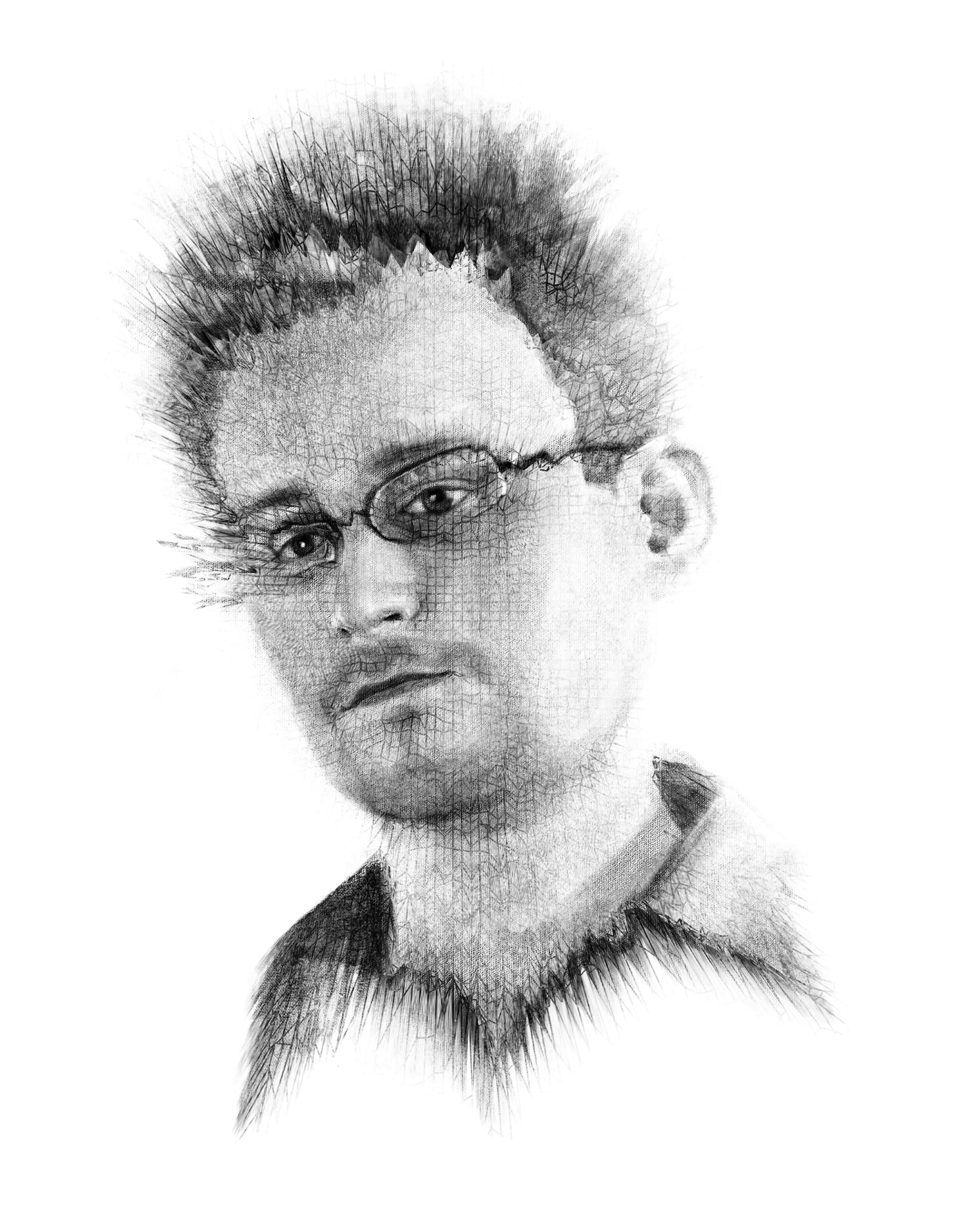 Edward Snowden. Illustratsioon: Andrei Kedrin
