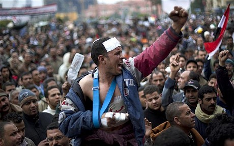 "Kaader filmist ""Erhal: a diary of Tahrir Square""."