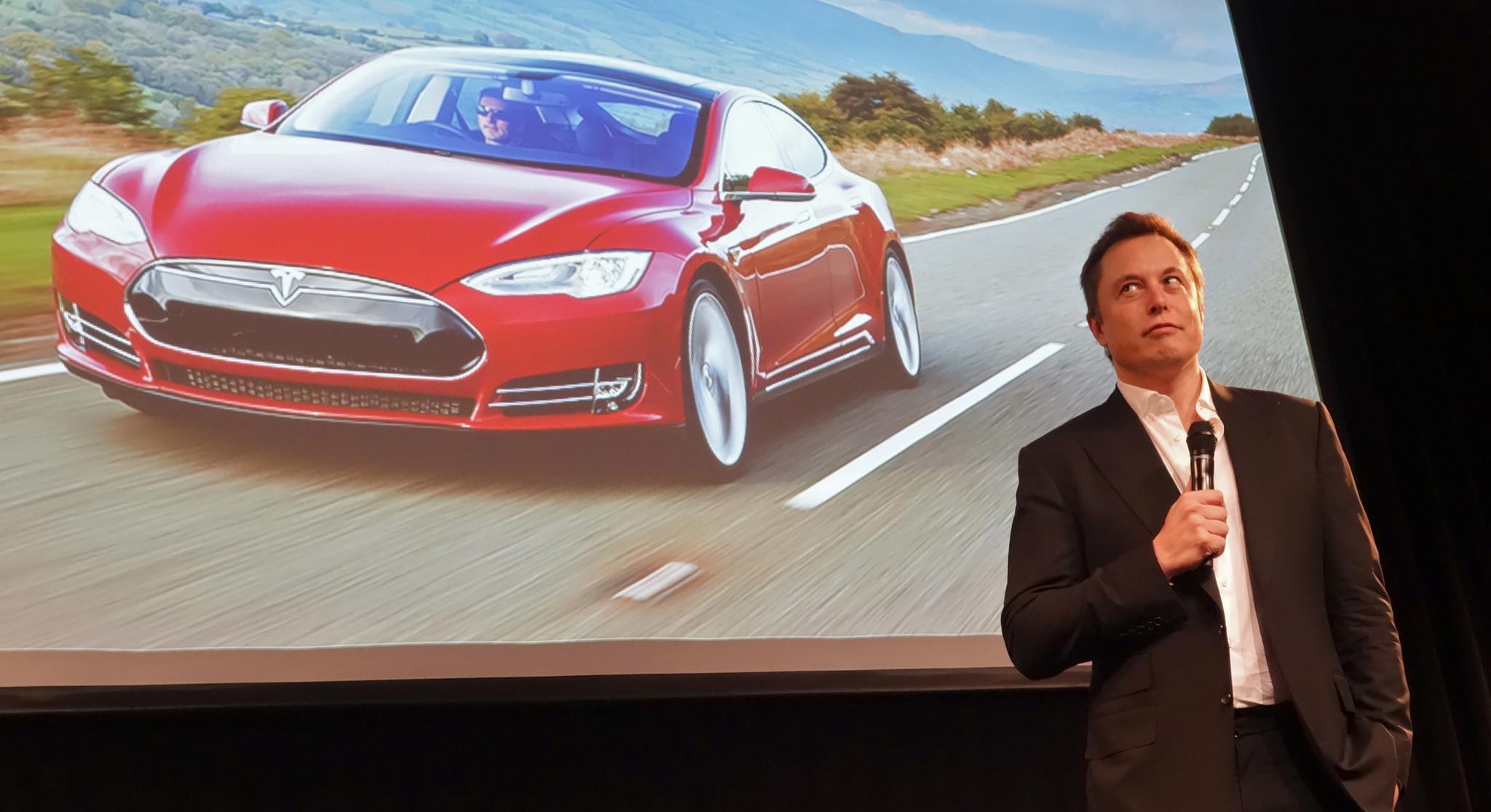 Elon Musk rääkimas Tesla elektriautost. Foto: Steve Jurvetson (CC BY 2.0)