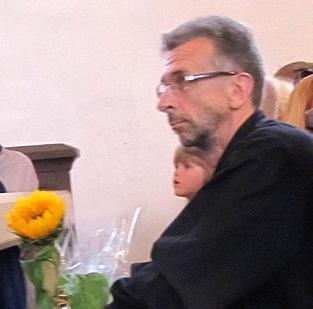 Erkki-Sven Tüür 2012. aasta augustis Pühalepa kirikus. Foto: Athanasius Soter