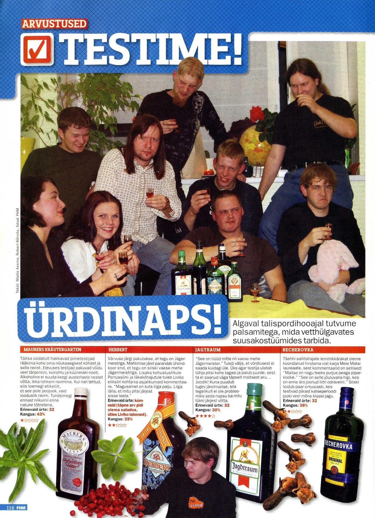 FHMi leheküljed 2007. aasta novembrinumbrist
