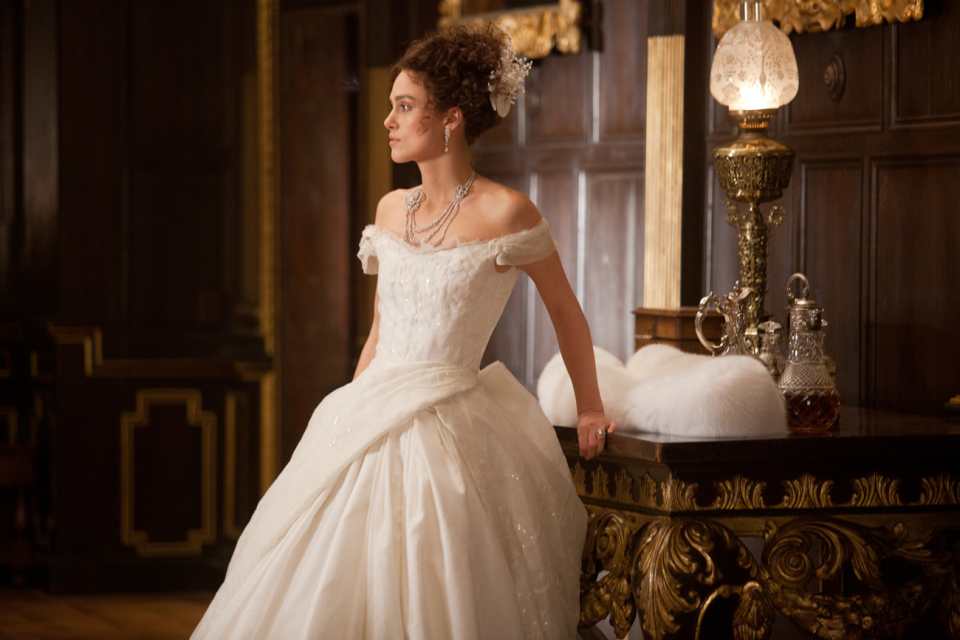 "Combining film and fashion – Keira Knightley in ""Anna Karenina""."