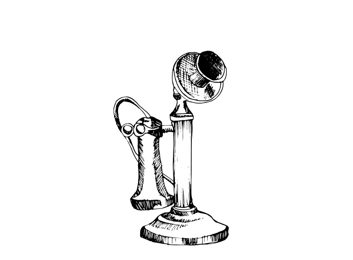 Esimene telefon. Ikooni autor: Patricia Canales Odriozola (Noun Project, CC BY 3.0)