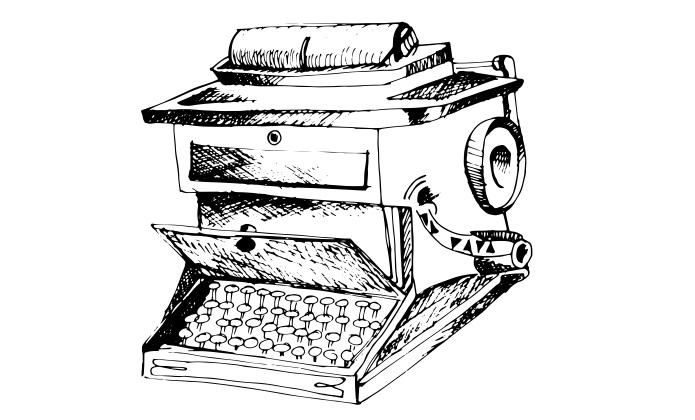 Esimene kirjutusmasin. Ikooni autor: Patricia Canales Odriozola (Noun Project, CC BY 3.0)