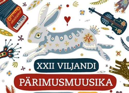 """Viljandi pärimusmuusika festivali 2014 (teemaga """"Mäng"""") tunnuskujundus. Autor: Merike Tamm"""