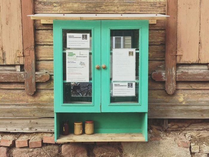 Tartu toidujagamispunkt Barlova baari juures. Foto: Kerly Ilves