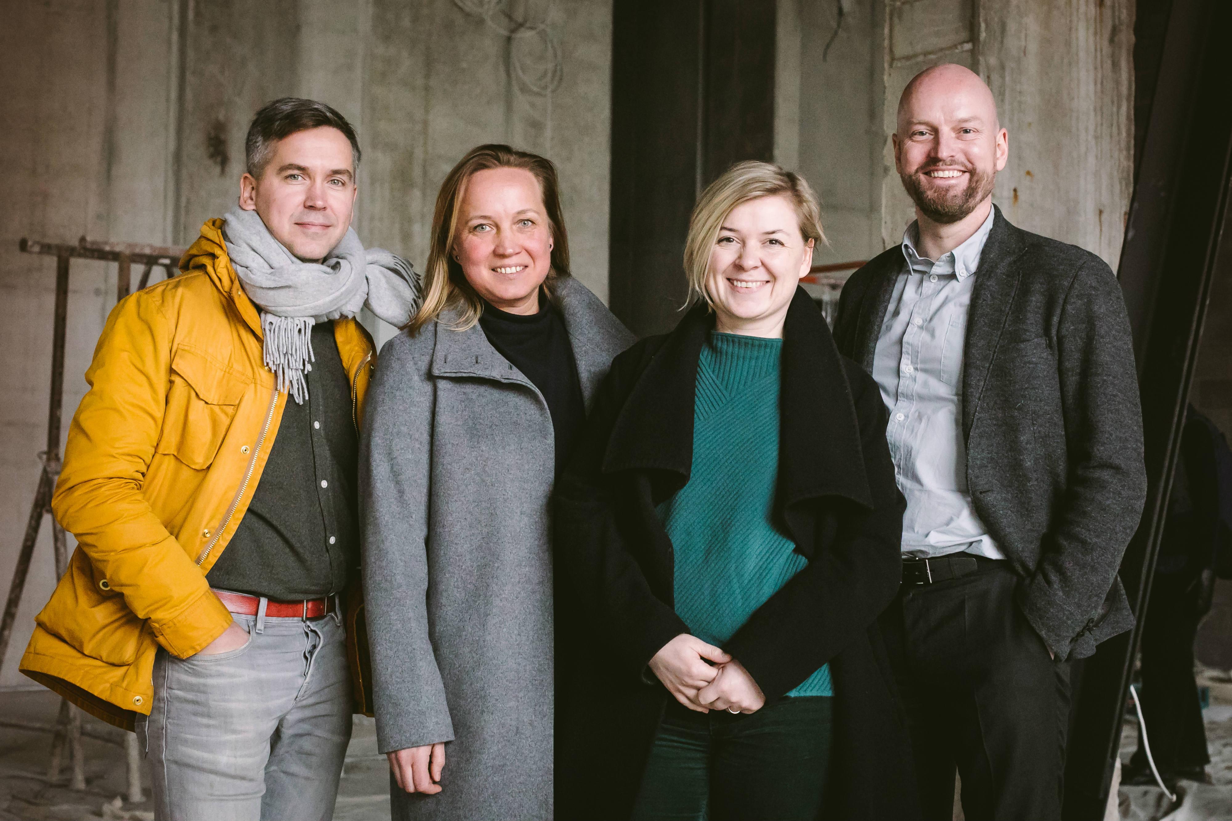 Fotografiska Tallinn asutajad (vasakult): Peeter Pihel, Margit Aasmäe, Maarja Loorents ja Rain Tamm. Foto: Tiina-Liina Uudam