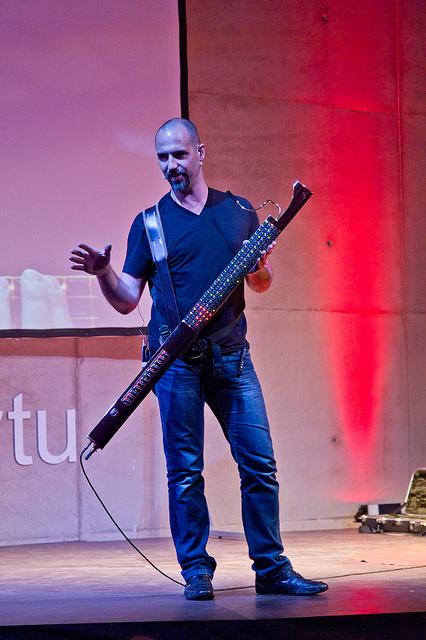 Geert Bevin Eigenharpiga. Foto: Tarvo Metspalu