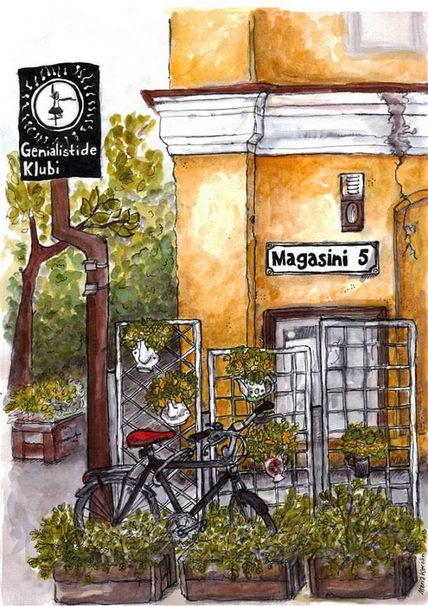 Genialistide klubi. Illustratsioon: Maria Karolin (omailm.ee)