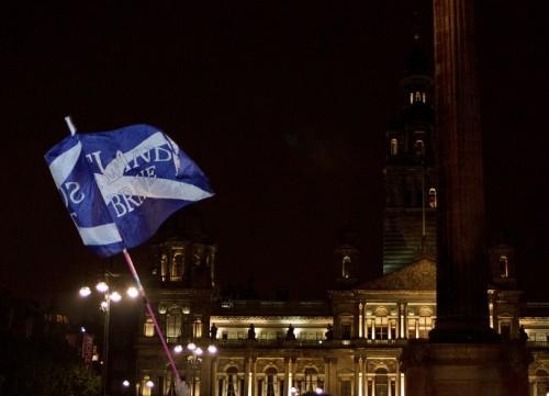 Šotlased 18. septembril Glasgows George'i väljakul referendumi tulemusi ootamas. Fotod: Ruudu Ulas
