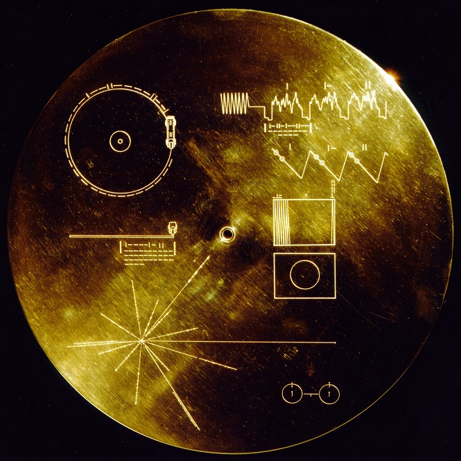 The Voyager Golden Record – a record sent to space by NASA with more than five hours of sounds characterising life on Earth recorded on it. Photo: Wikipedia