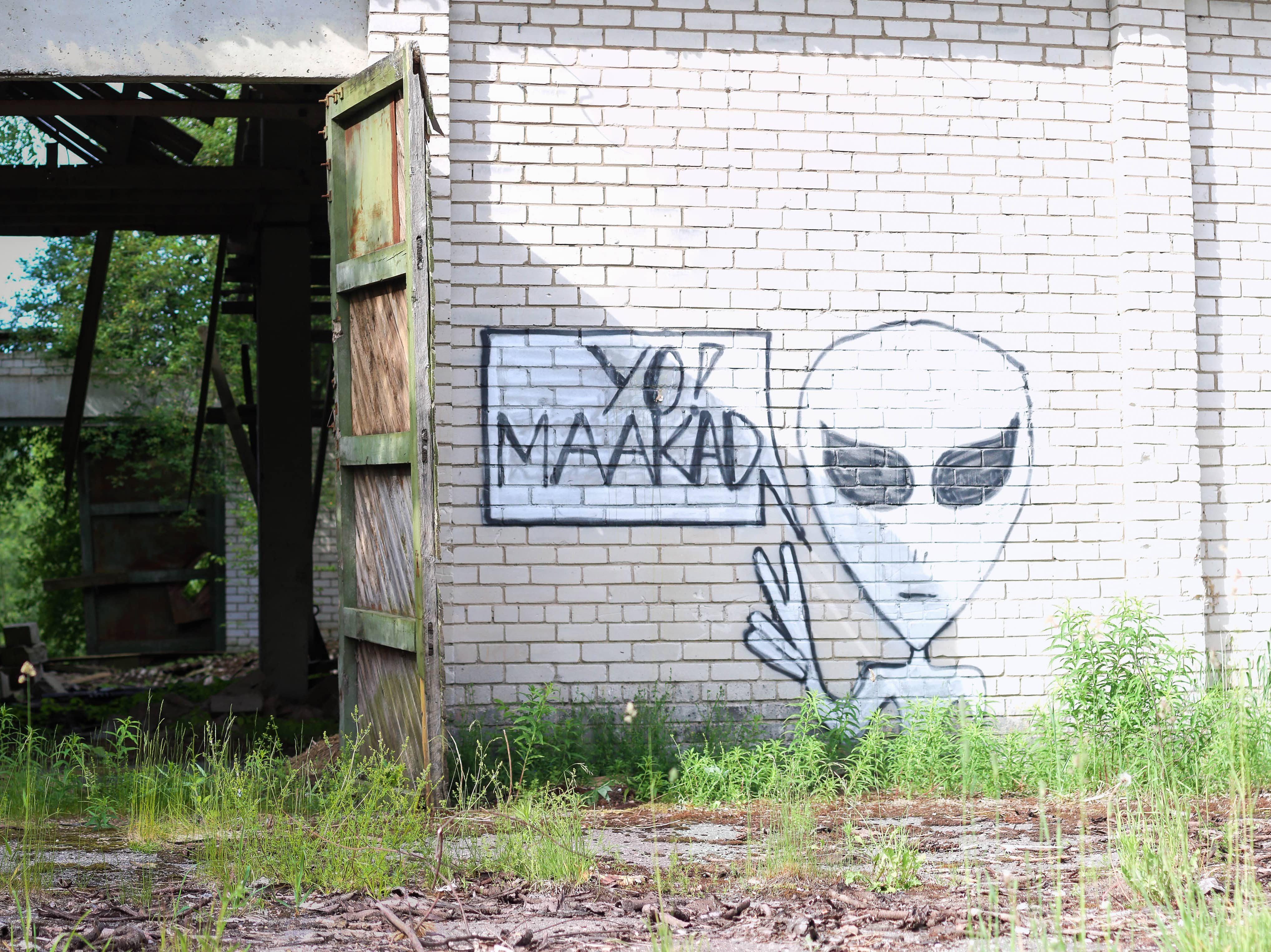 Grafiti Koikkülas. Foto: Arvo Meeks / Valgamaalane / Scanpix