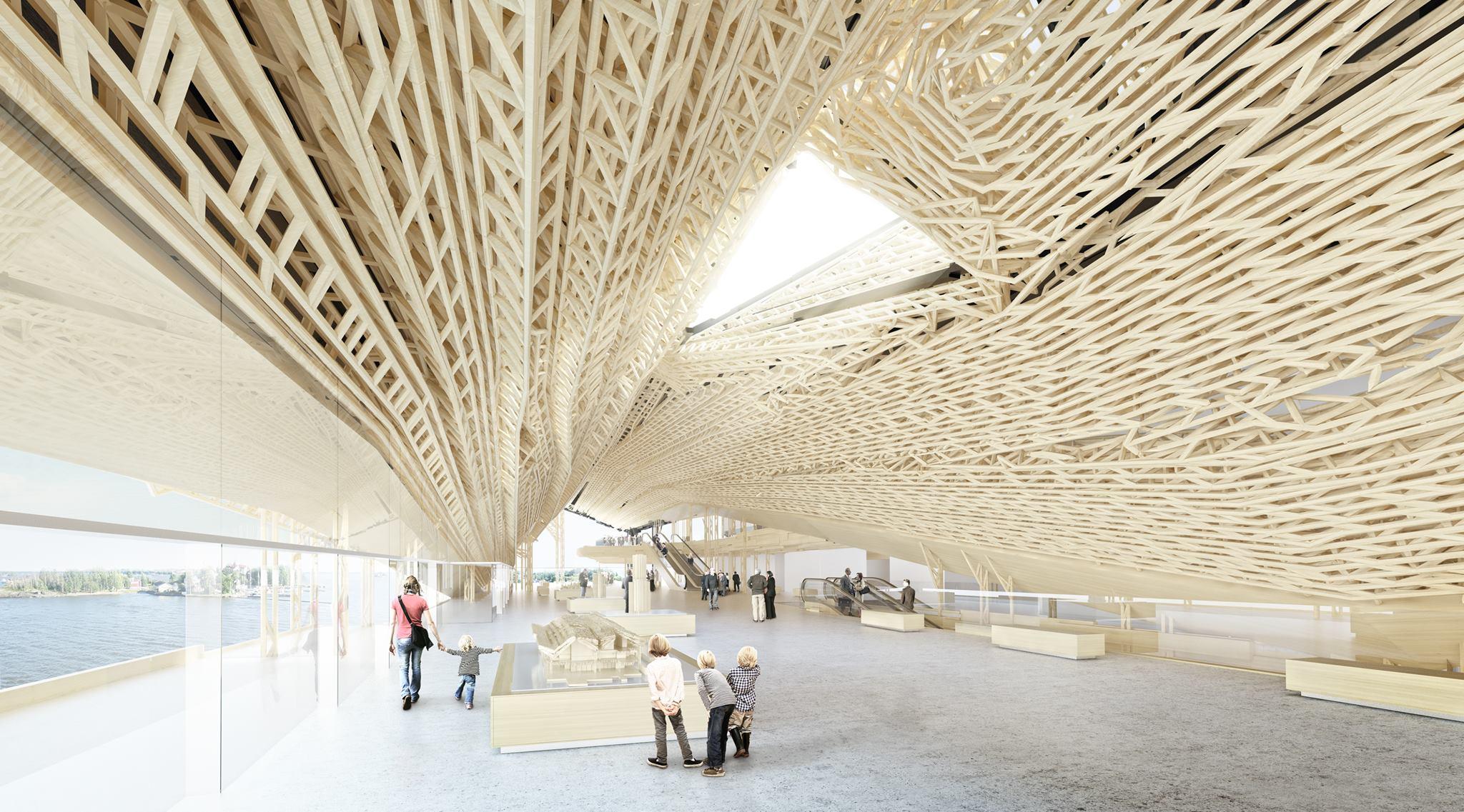 Guggenheim Helsinki võistlustöö interjöör. Kavand: Gilles Retsin