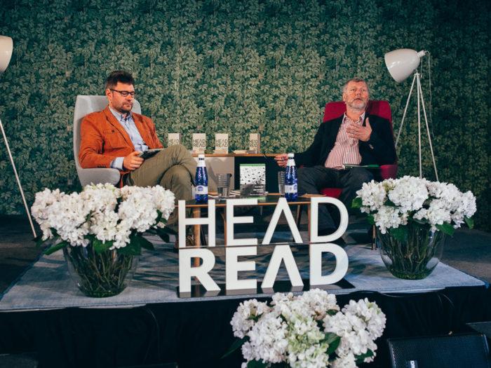 Igor Kotjuh ja Sergei Zavyalov festivalil HeadRead 2017. Foto: press