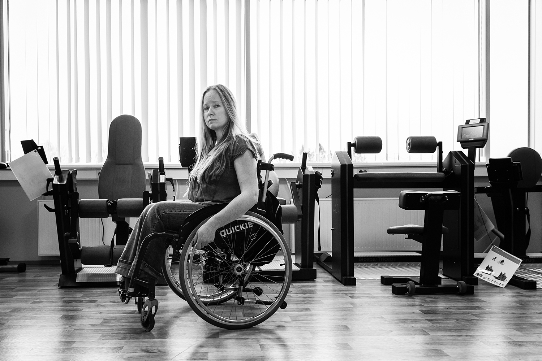 Helen Bokmann Eesti Liikumispuudega Inimeste Liidu rehabilitatsioonikeskuse Tallinnas. Foto: Aleksander Kelpman